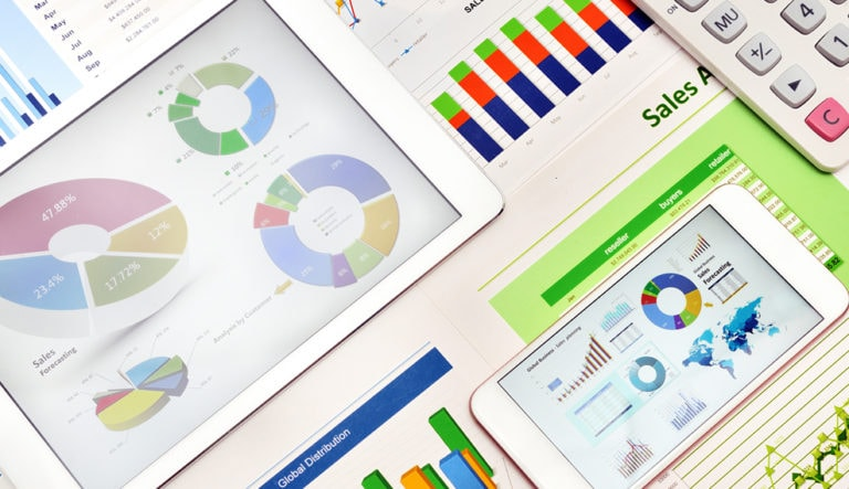 A series of dashboards and graphs