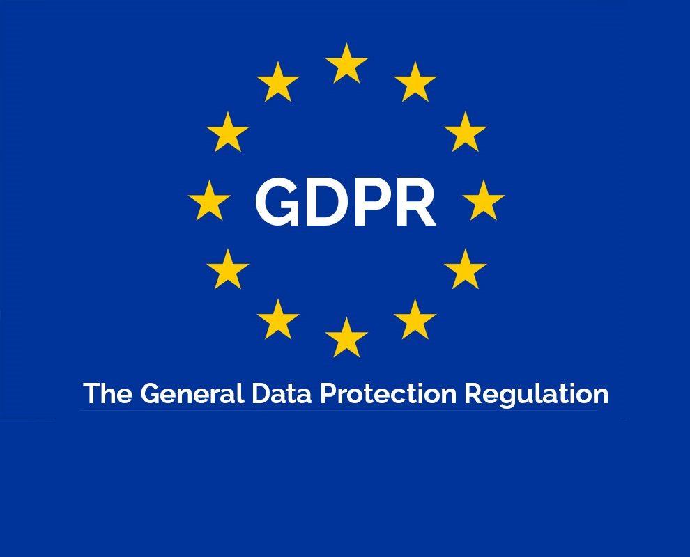 GDPR logo on blue background