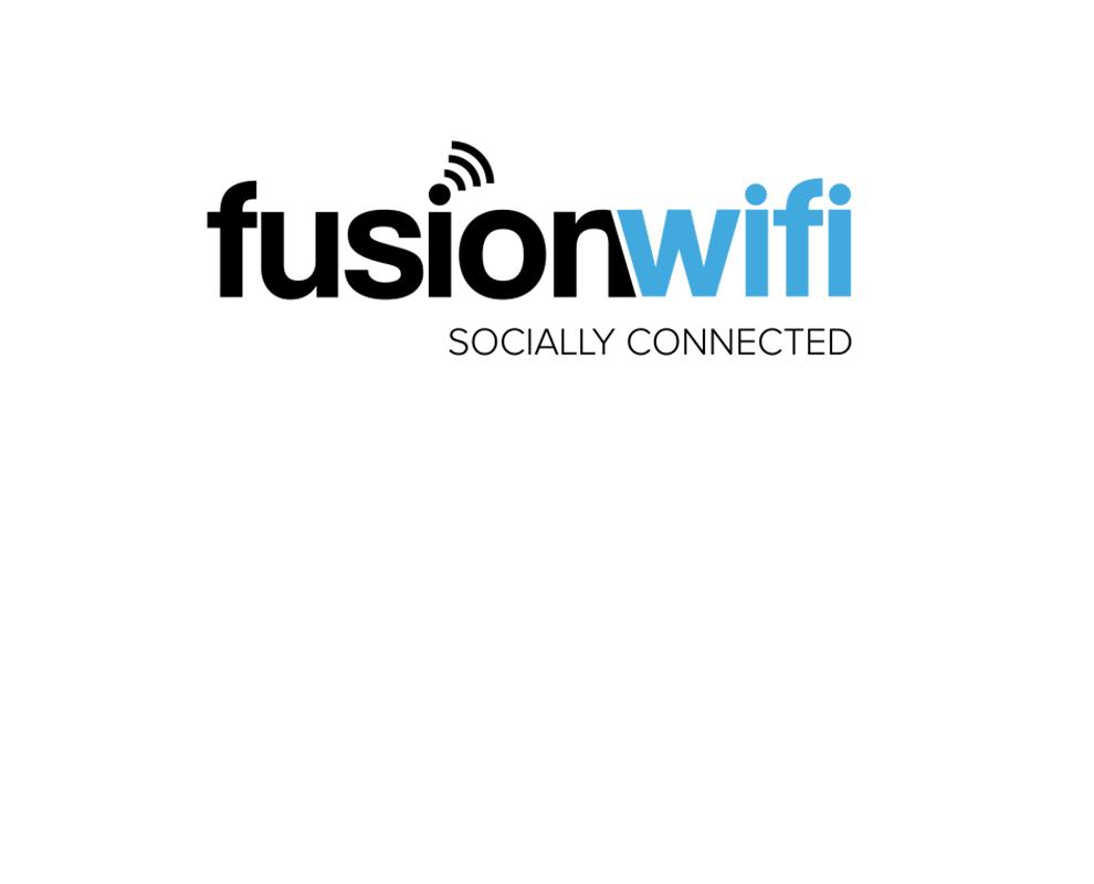 Fusion Wifi logo on white background