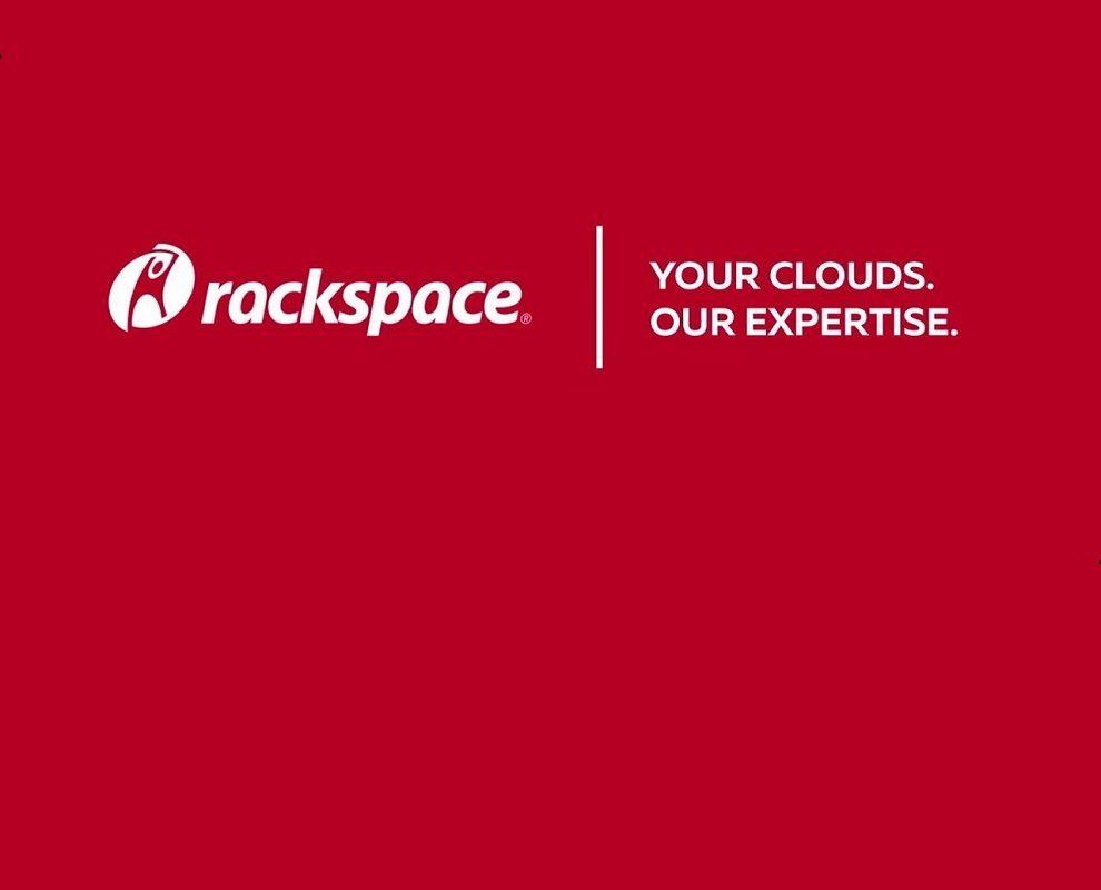 Rackspace logo on red background